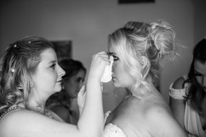 emotional wedding tears