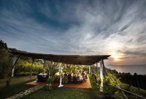 sunset Massa Lubrense wedding