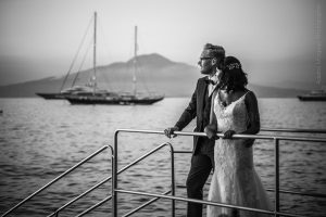 Black & White Wedding t photos in Sorrento