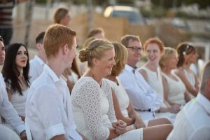 Wedding guests at the Coco Beach in Polignano a Mare