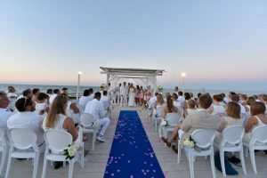 Wedding ceremony on the sea front