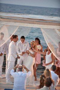 Wedding ceremony in Polignano a Mare
