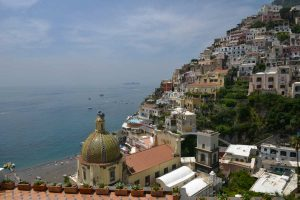 The Dome of the Church of Assunta in Positano
