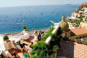 Wedding celebration in Positano