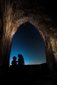 Night wedding photograph