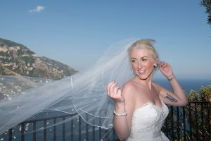 Beautiful bride in Positano